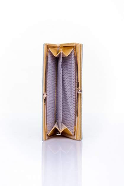 Szary portfel z biglem efekt saffiano                                   zdj.                                  4