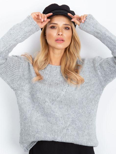 Szary sweter Tiffany                              zdj.                              1