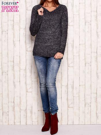 Szary sweter fluffy z cekinami                                  zdj.                                  2