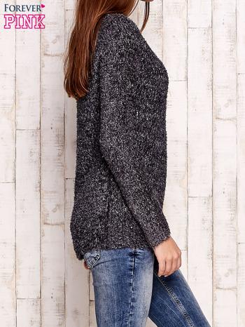 Szary sweter fluffy z cekinami                                  zdj.                                  3