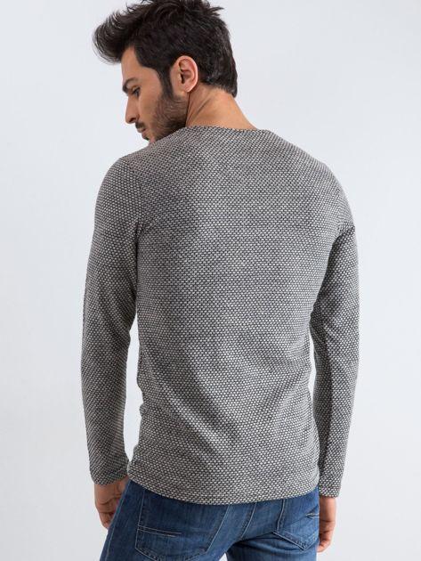 Szary sweter męski Mosaic                              zdj.                              2