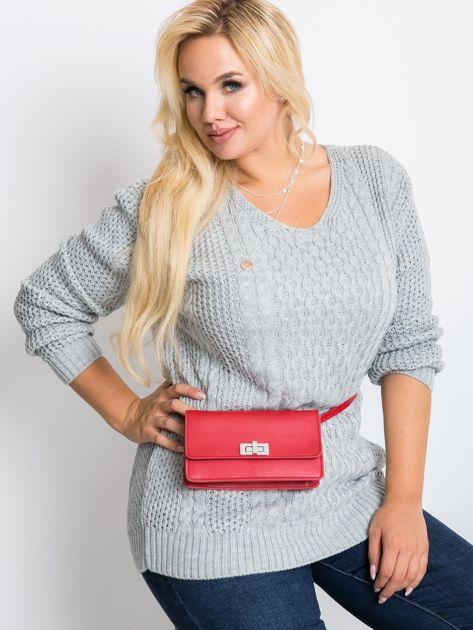 Szary sweter plus size Tango                              zdj.                              2