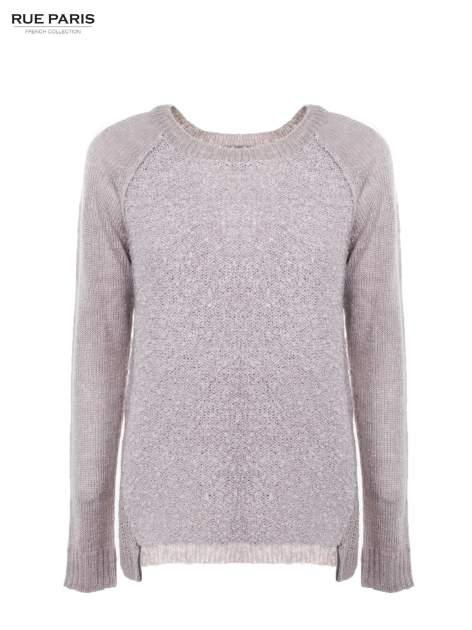 Szary sweter z dłuższym tyłem                                  zdj.                                  2