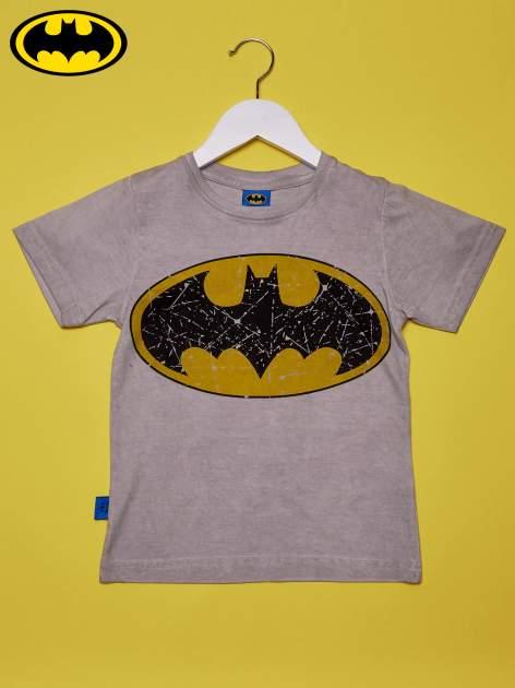 Szary t-shirt chłopięcy BATMAN                                  zdj.                                  1