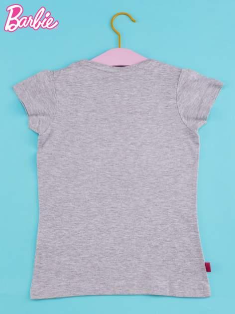 Szary t-shirt dla dziewczynki BARBIE