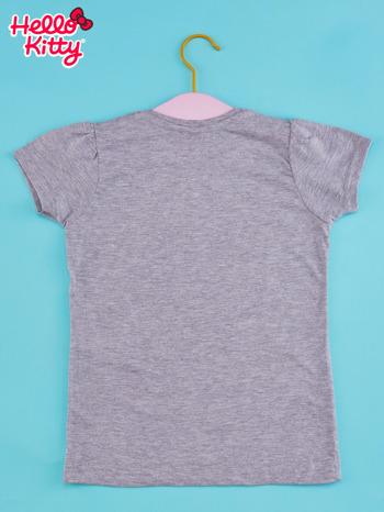 Szary t-shirt dla dziewczynki HELLO KITTY z napisem GET YOUR NERD ON                                  zdj.                                  2