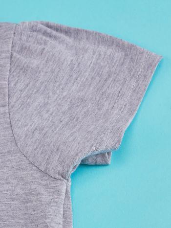 Szary t-shirt dla dziewczynki HELLO KITTY z napisem GET YOUR NERD ON                                  zdj.                                  5