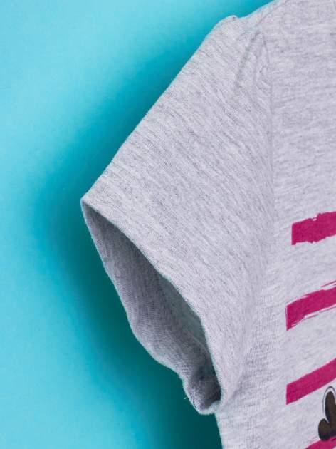 Szary t-shirt dla dziewczynki MINIONKI z cekinami                                  zdj.                                  6