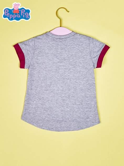 Szary t-shirt dla dziewczynki ŚWINKA PEPPA                                  zdj.                                  2