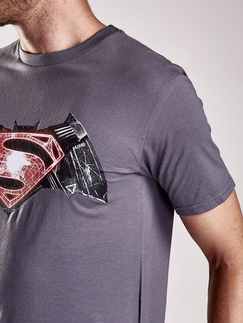 Szary t-shirt męski BATMAN V SUPERMAN                                  zdj.                                  7