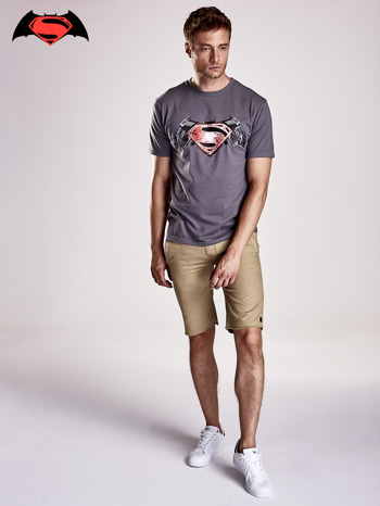 Szary t-shirt męski BATMAN V SUPERMAN                                  zdj.                                  5