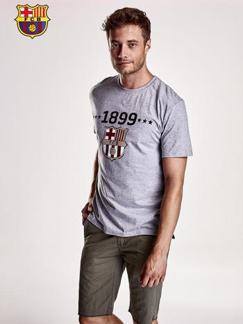 Szary t-shirt męski FC BARCELONA                                   zdj.                                  2