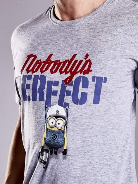 Szary t-shirt męski MINIONS                                   zdj.                                  5