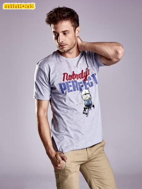 Szary t-shirt męski MINIONS                                   zdj.                                  1