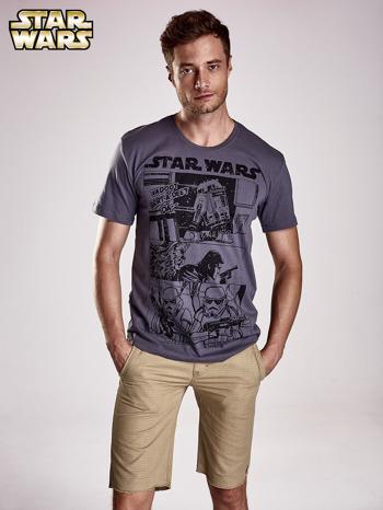 Szary t-shirt męski STAR WARS                                  zdj.                                  1