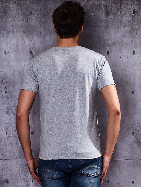 Szary t-shirt męski basic                              zdj.                              2