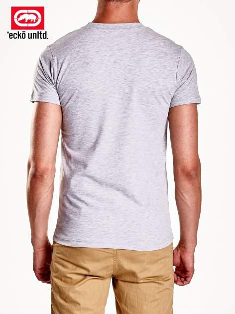 Szary t-shirt męski z czarnym logiem                                  zdj.                                  6