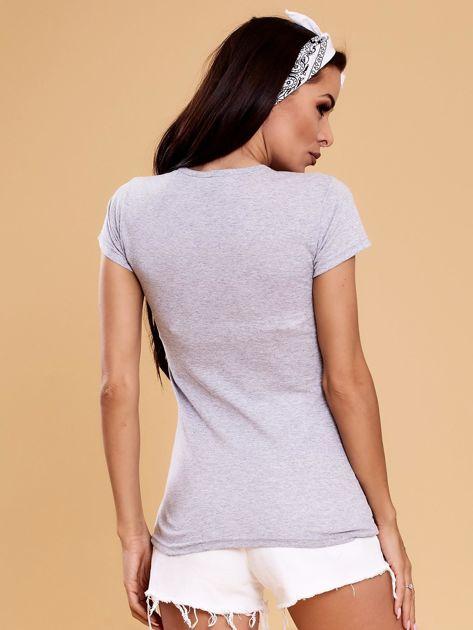 Szary t-shirt z buldożkiem                              zdj.                              2