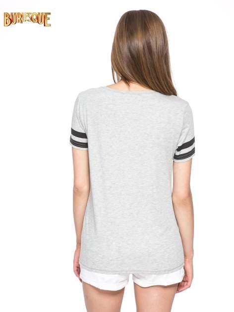 Szary t-shirt z motywem Paryża                                  zdj.                                  4