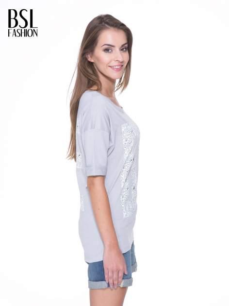 Szary t-shirt z nadukiem DUDE z przodu i na plecach                                  zdj.                                  4