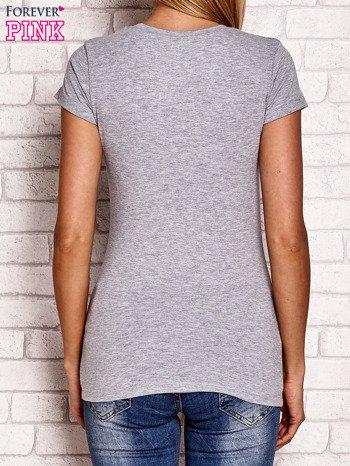Szary t-shirt z napisem JUST SPORT