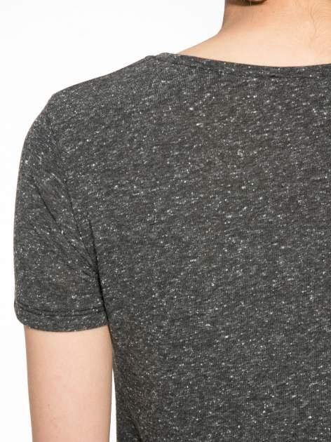 Szary t-shirt z napisem ROUTE NEW YORK                                  zdj.                                  10