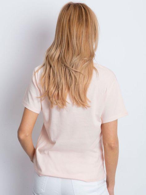 T-shirt brzoskwiniowy z popcornem                              zdj.                              5