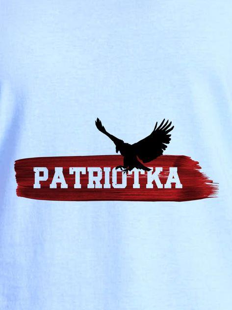 T-shirt damski patriotyczny z orłem PATRIOTKA niebieski                                  zdj.                                  2