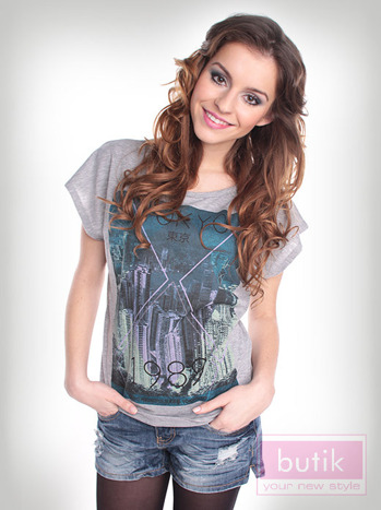 T-shirt szary Oversize