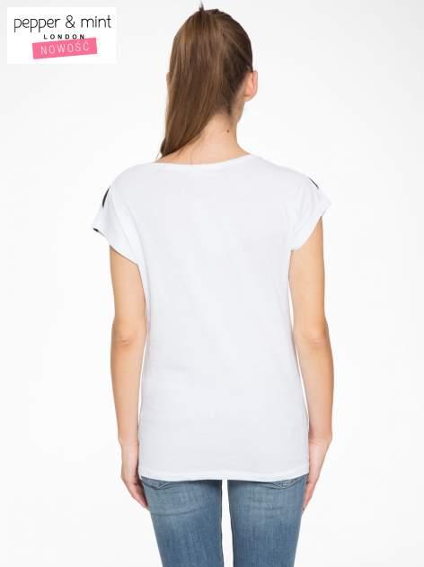T-shirt w biało-czarne paski z napisem LOVE                                  zdj.                                  4