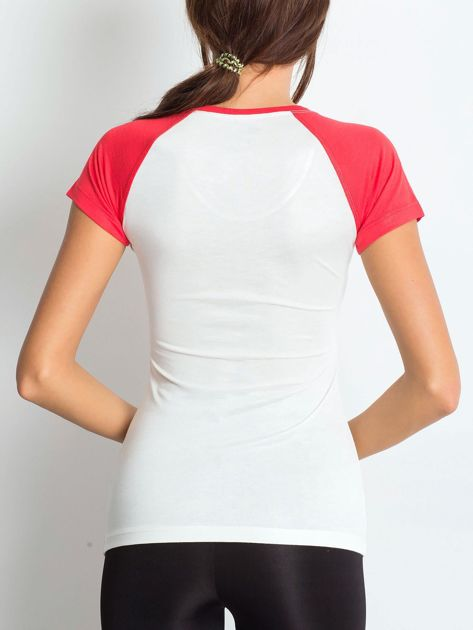 T-shirt z liczbą 72 ciemnokoralowy                              zdj.                              2