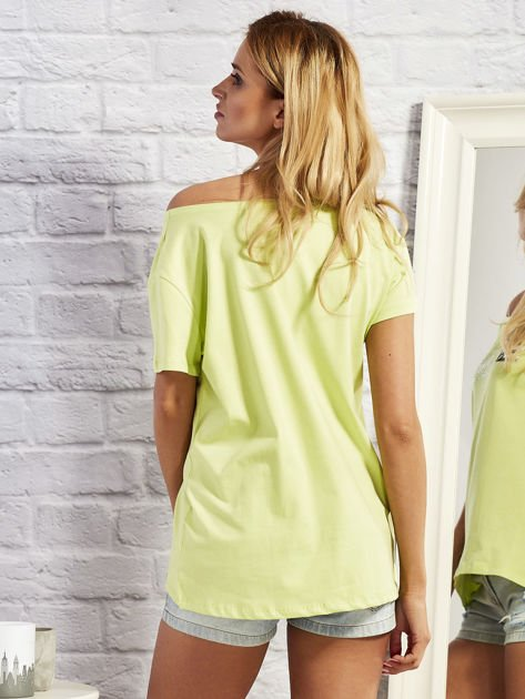T-shirt z motywem torebek limonowy                                  zdj.                                  3