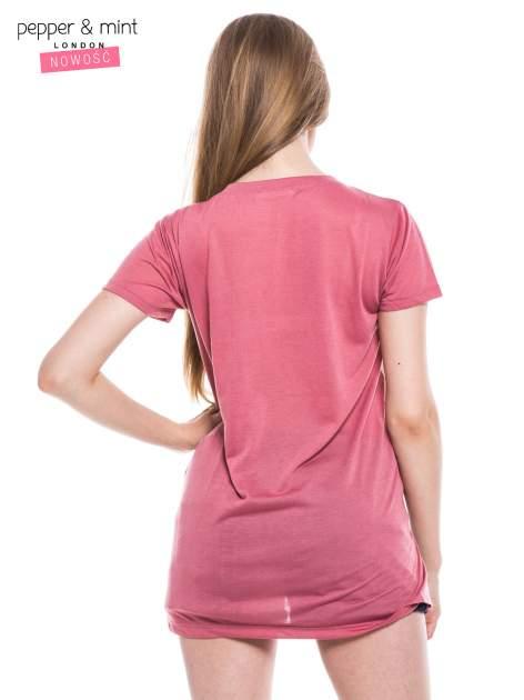 T-shirt z nadrukiem modelki i dłuższym tyłem                                  zdj.                                  3