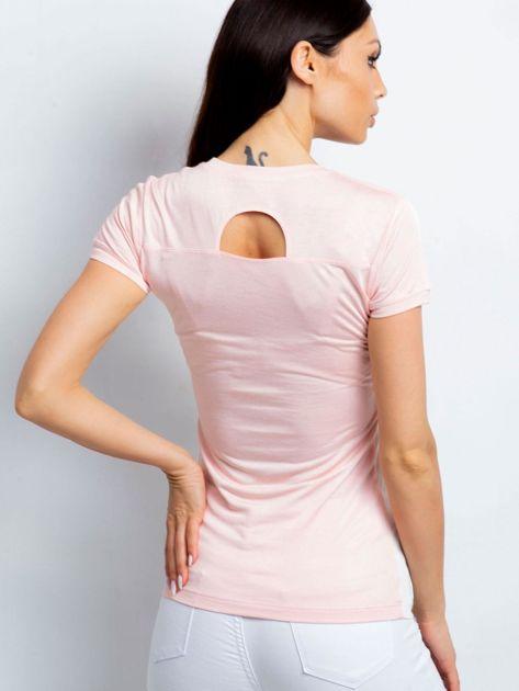 T-shirt z pastelowym nadrukiem jasnoróżowy                              zdj.                              2