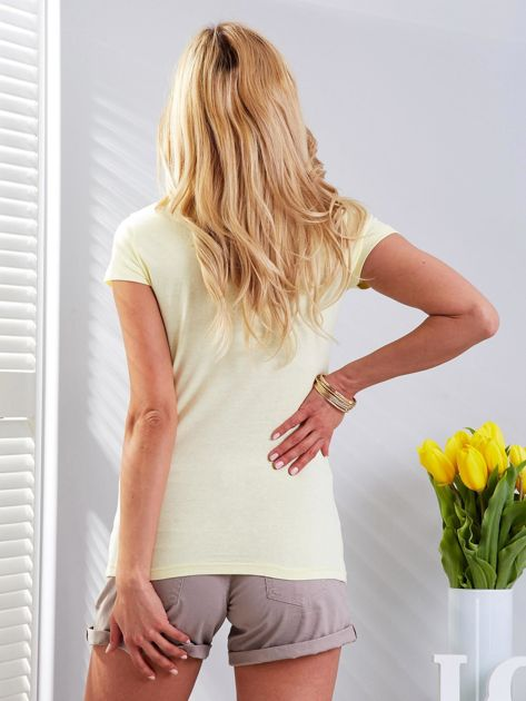 T-shirt żółty z motylami                              zdj.                              2