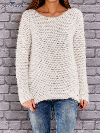 TOM TAILOR Beżowy sweter long hair                                  zdj.                                  1