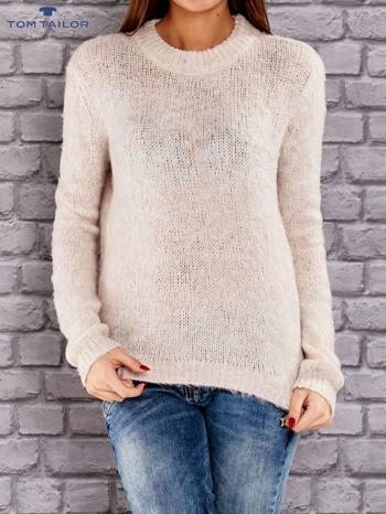 TOM TAILOR Beżowy włóczkowy sweter                                   zdj.                                  1