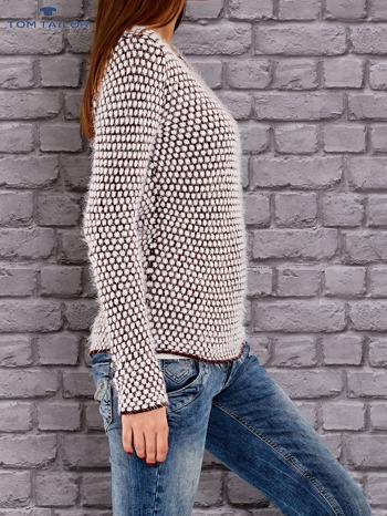 TOM TAILOR Bordowy sweter long hair                                  zdj.                                  3