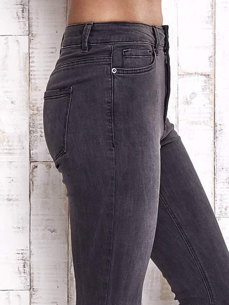 TOM TAILOR Ciemnoszare spodnie jeansowe z rozcięciami na kolanach                                  zdj.                                  5