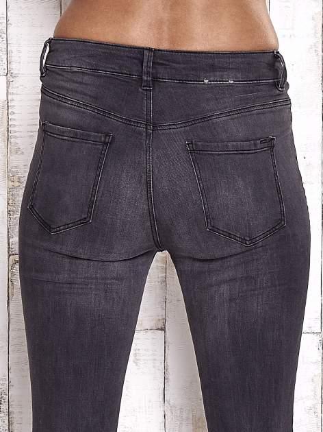 TOM TAILOR Ciemnoszare spodnie jeansowe z rozcięciami na kolanach                                  zdj.                                  6