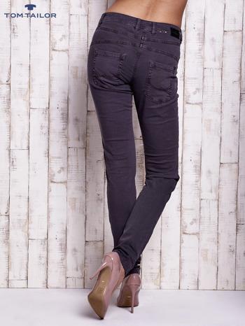 TOM TAILOR Ciemnoszare spodnie regular jeans z przeszyciami                                  zdj.                                  4