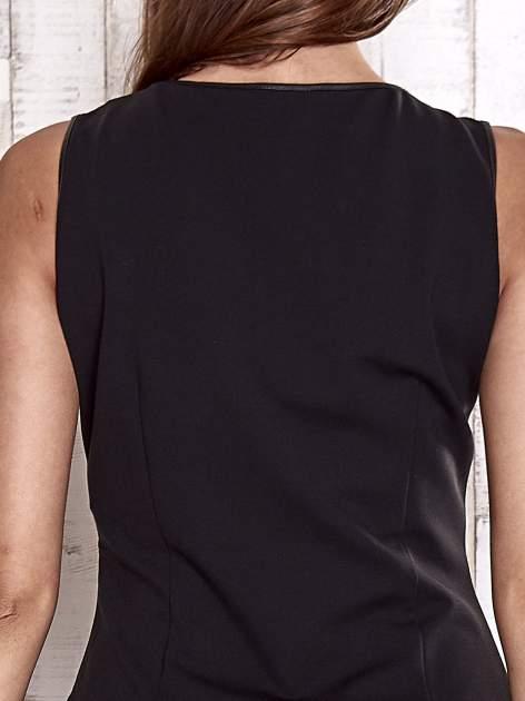 TOM TAILOR Czarna sukienka o kroju litery A                                  zdj.                                  7