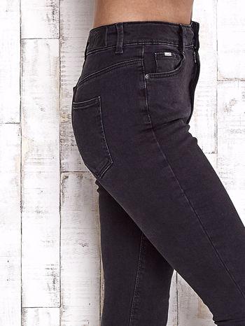 TOM TAILOR Czarne spodnie jeansowe cut out                                  zdj.                                  5