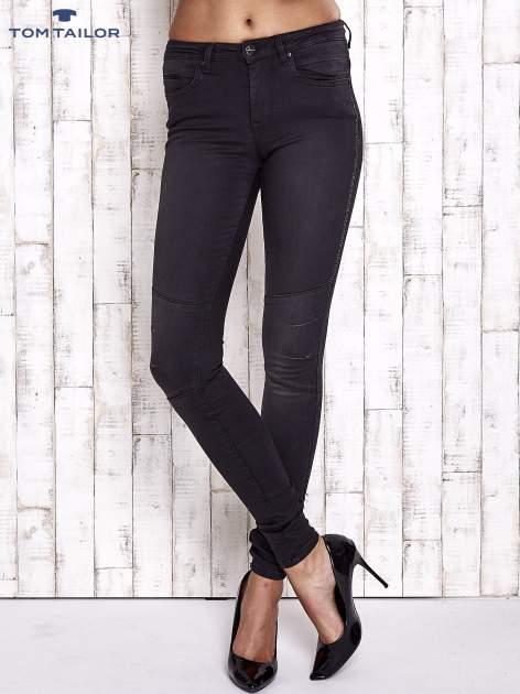 TOM TAILOR Czarne spodnie skinny jeans z dżetami                                  zdj.                                  1