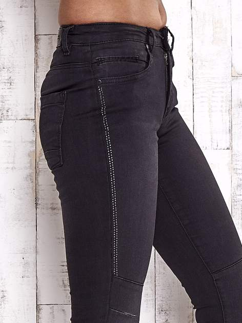TOM TAILOR Czarne spodnie skinny jeans z dżetami                                  zdj.                                  5