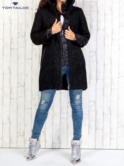 TOM TAILOR Czarny dwuczęściowy płaszcz z kurtką pikowaną                                  zdj.                                  7
