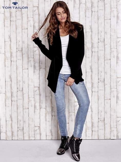 TOM TAILOR Czarny luźny sweter z otwartym dekoltem                                  zdj.                                  2