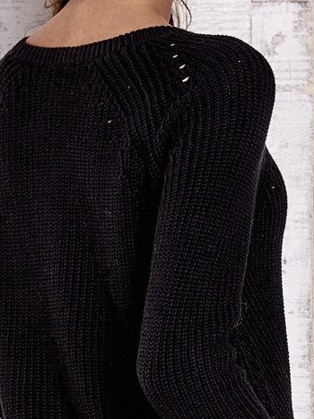 TOM TAILOR Czarny sweter z koszulą                                  zdj.                                  6