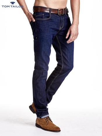 TOM TAILOR Granatowe spodnie jeansowe męskie ze stretchem                              zdj.                              2