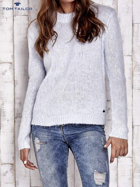 TOM TAILOR Niebieski sweter z dodatkiem wełny z alpaki                                  zdj.                                  1